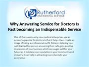 Why Answering Service for Doctors Is Fast becoming an Indispensable Se