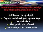 Design Brief Introduction