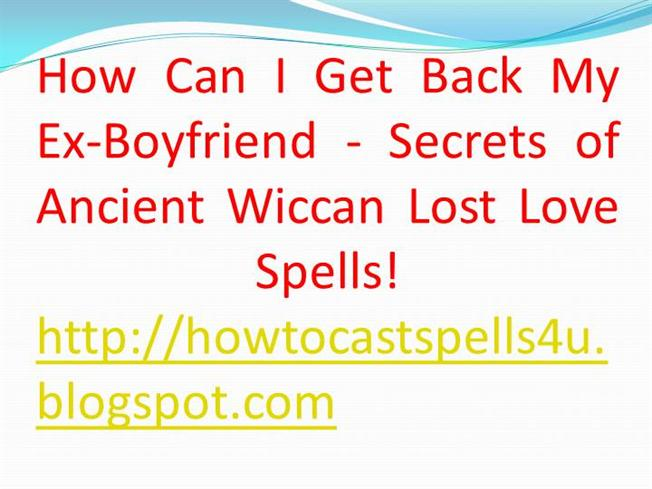 Get your ex back spell free