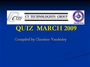 2009 MARCH VICTORIAN CTTG QUIZ answers