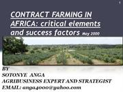 CONTRACT FARMING IN AFRICA BY SOTONYE ANGA 2000