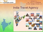 India Travel Agency at Joy Travels