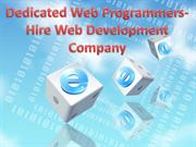 Dedicated Web Programmers- Hire Web Development Company