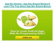 App Dev Empire - App Dev Empire Review  About App Dev Empire Download!