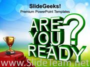 ARE YOU READY METAPHOR POWERPOINT THEME