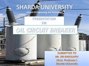 PRESENTATION OIL CIRCUIT BREAKER