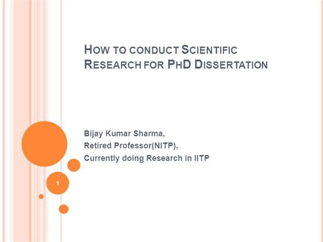 How to conduct scientific research?