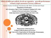 Effect of different sodicity levels on vegetative   growth performance