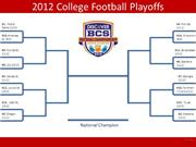 College Football Bracket (2012)