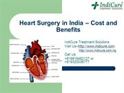 Heart Surgery in India - Cost and Benefits
