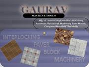Paver block Machinery, Block Moulds & Bricks