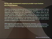 Opt for a Web development company to provide to your business web site