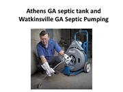 Athens GA septic tank and Watkinsville GA Septic