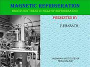 MAGNETIC REFRIGERATION (1)