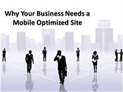 Every  Business Needs a Mobile optimized  website