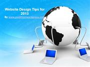 Website Design Tips 2013
