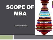 Scope of MBA- Joseph Anbarasu