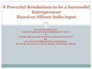 Resolutions to be a Successful Entrepreneur