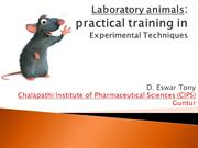 Handling of Laboratory Animals