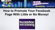 How to Promote Your Facebook Page?