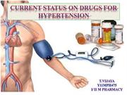 Current status on drugs for hypertension