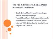 Tips For A Successful Social Media Marketing Campaign