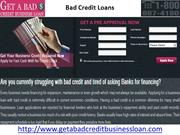 Bad Credit Business Loan