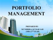 PORTFOLIO MANAGEMENT