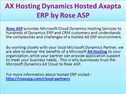 AX Hosting Dynamics Hosted Axapta ERP by Rose