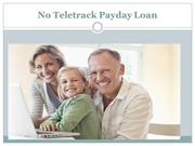 No Teletrack Payday Loan