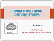 HERBAL NOVEL DRUG DELIVERY SYSTEM