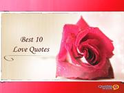 Best 10  Love Quotes