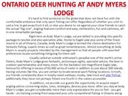 Ontario deer hunting at Andy Myers Lodge