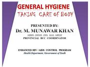 1  General Hygiene for boys by Dr Munawar Khan SACP