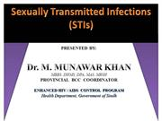STI AND HIV for boys by Dr Munawar Khan SACP