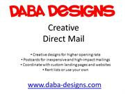 Daba Designs Creative Direct Mail