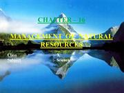 MANAGEMENT OF NATURAL RESOURCES.ppt