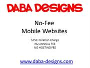 Daba Designs No-Fee Mobile Sites