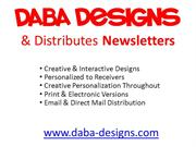 Daba Designs & Distributes Newsletters