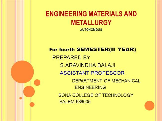 Engineering material ppt