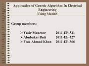genetic algorithem using matlab gatool