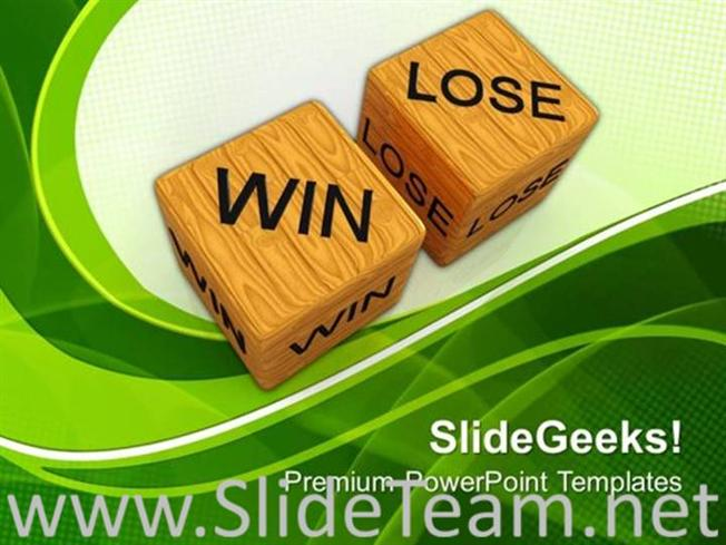 Dice win vs lose future powerpoint theme powerpoint template related powerpoint templates toneelgroepblik Images