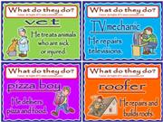 FLASHCARDS: WHAT DO THEY DO? SIMPLE PRESENT AND OCCUPATIONS