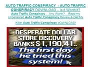 AUTO TRAFFIC CONSPIRACY - AUTO TRAFFIC CONSPIRACY DOWNLOAD  Is it Wo