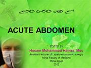 ACUTE ABDOMEN
