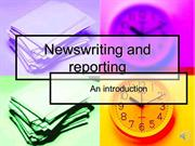 Newswriting Intro with audio