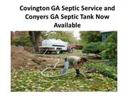 Covington GA Septic Service and Conyers GA Septic