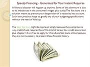 Speedy Financing - Generated for Your Instant Requires
