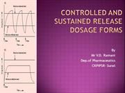 CH- 1 Controlled and sustained release dosage forms