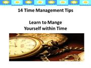 14 Time Management Tips Sample